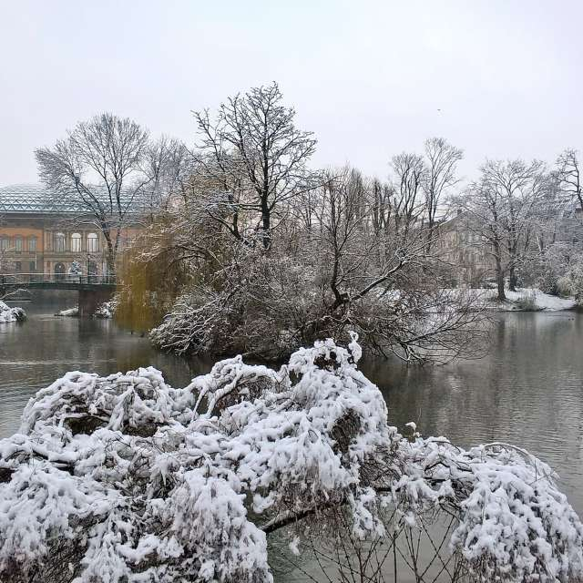 Düsseldorfer Ständehaus winter
