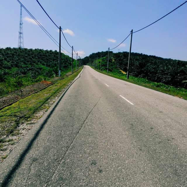 Riding bike on the road