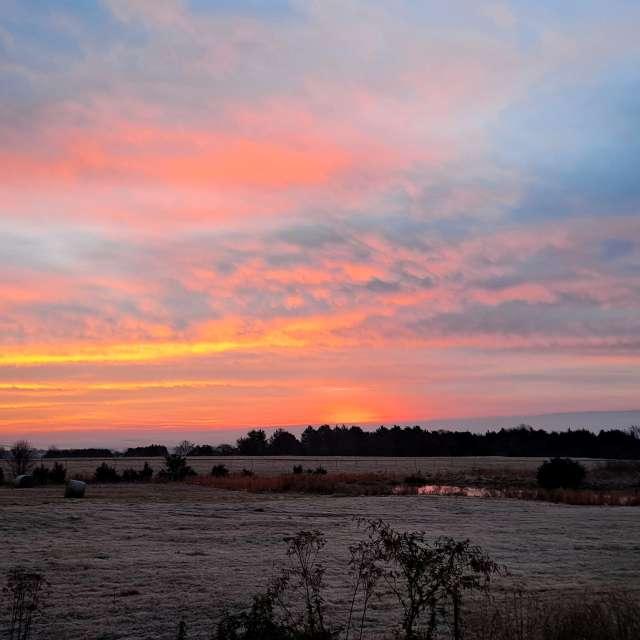 January sunrise over Arkansas