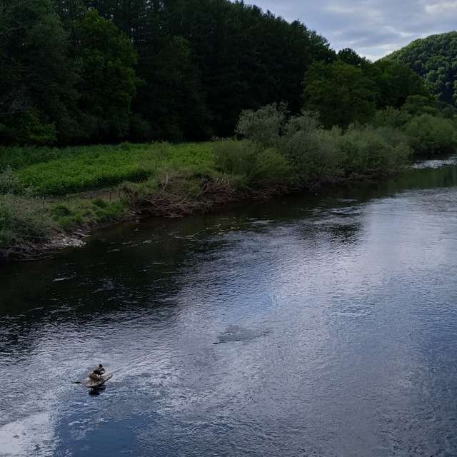 The River Sieg in Windeck, DE