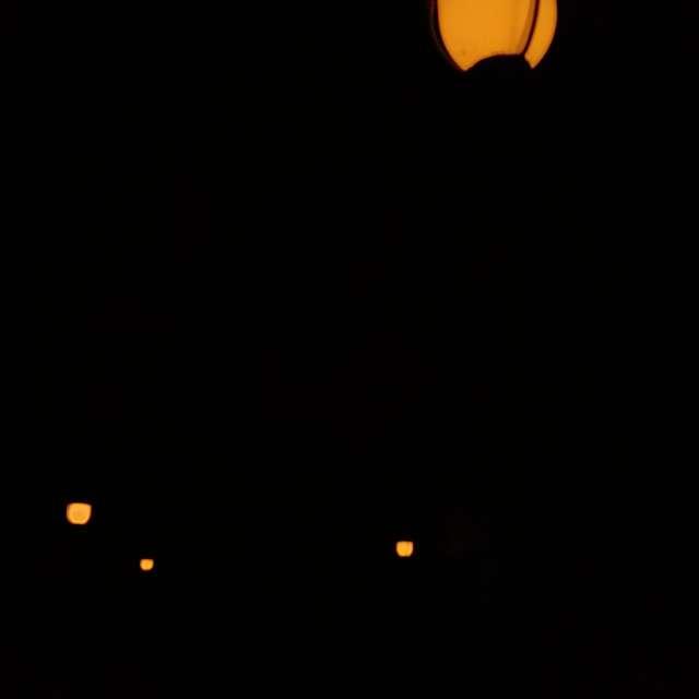 Farolas adornando a la noche.