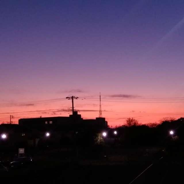 晩秋の落日
