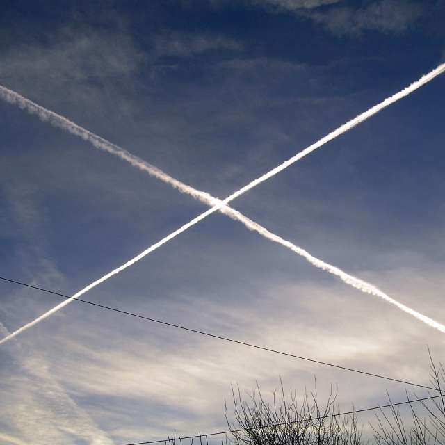 Saint Andrews Cross in the sky