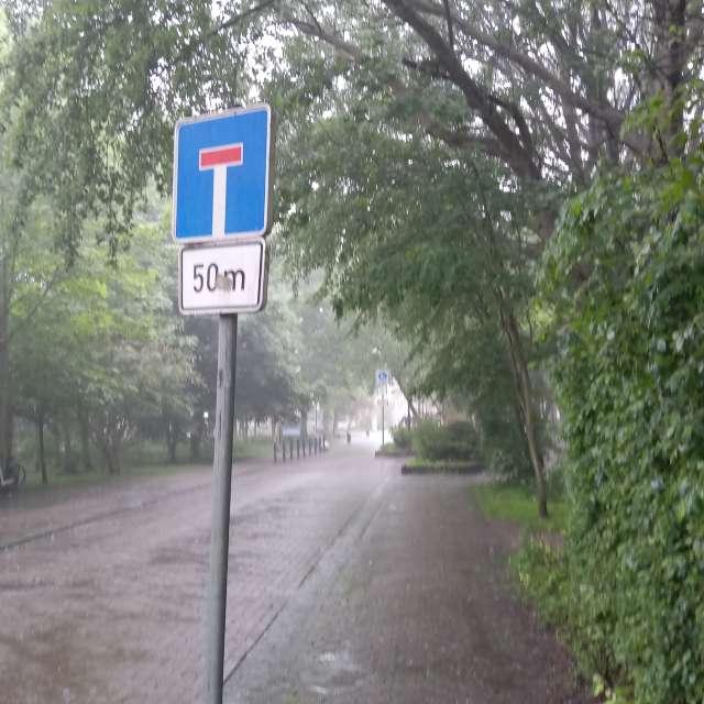 Regen am Kurplatz
