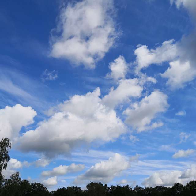 clouds like painting