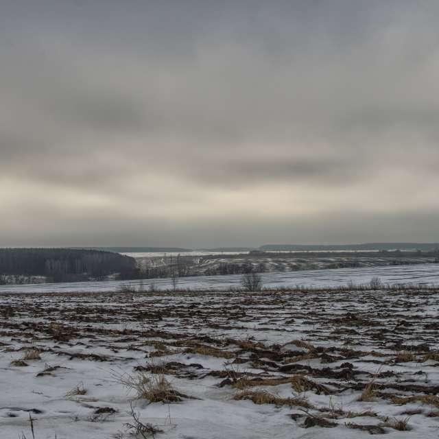 Облака. Пасмурно. Зима