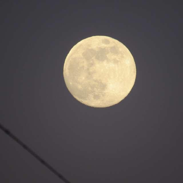 Полная луна на ясном небе