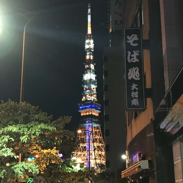 振り向けば東京タワー🗼感動しました。