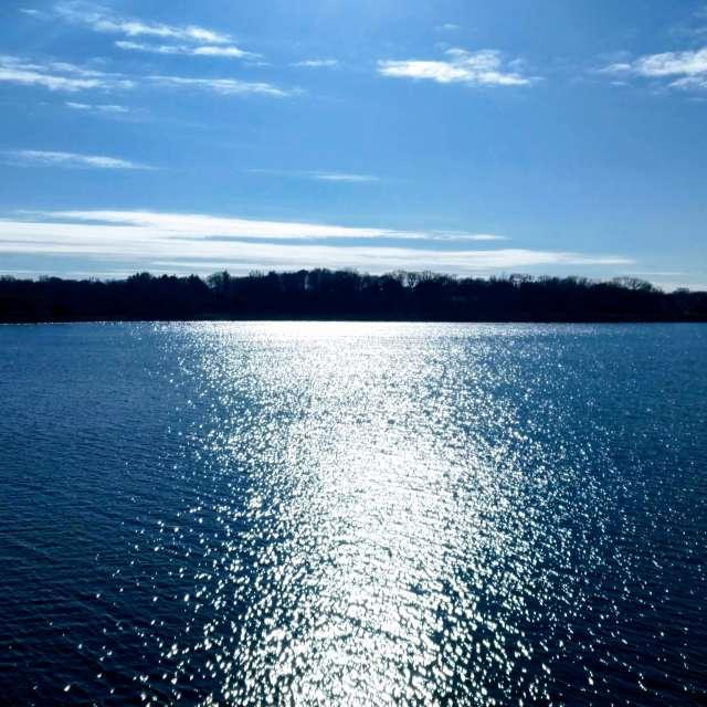 blue sky, bright sun