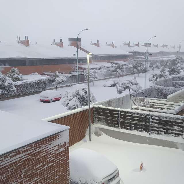 Nieve desde mi ventana