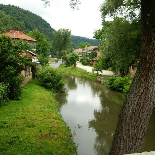 view from stone bridge