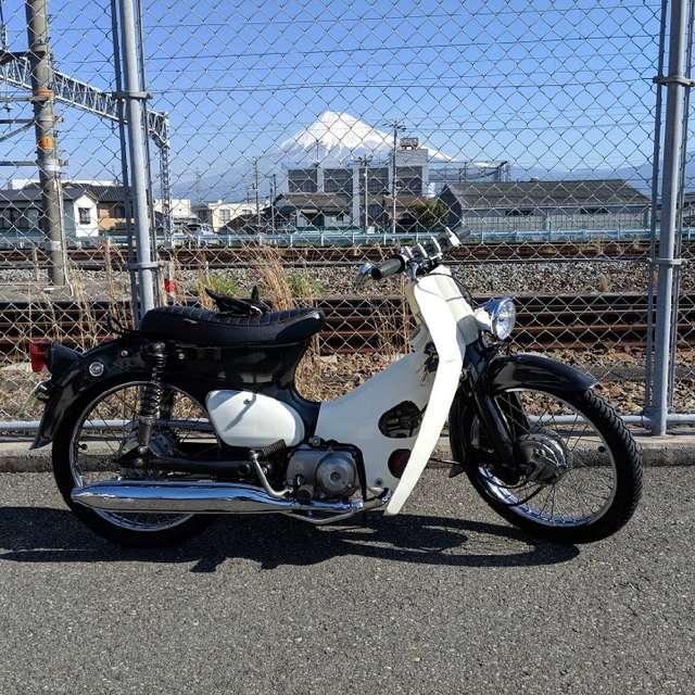 富士山とカブと快晴