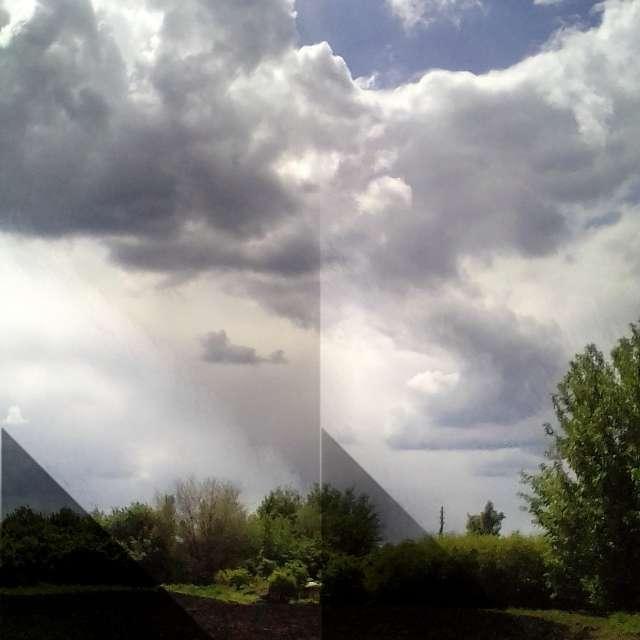Запад . облака на встречу.