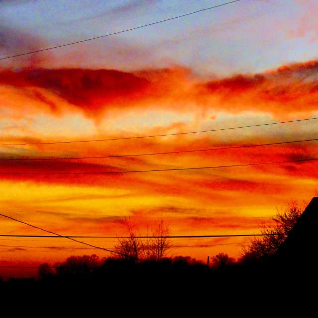 Rolling Red Clouds