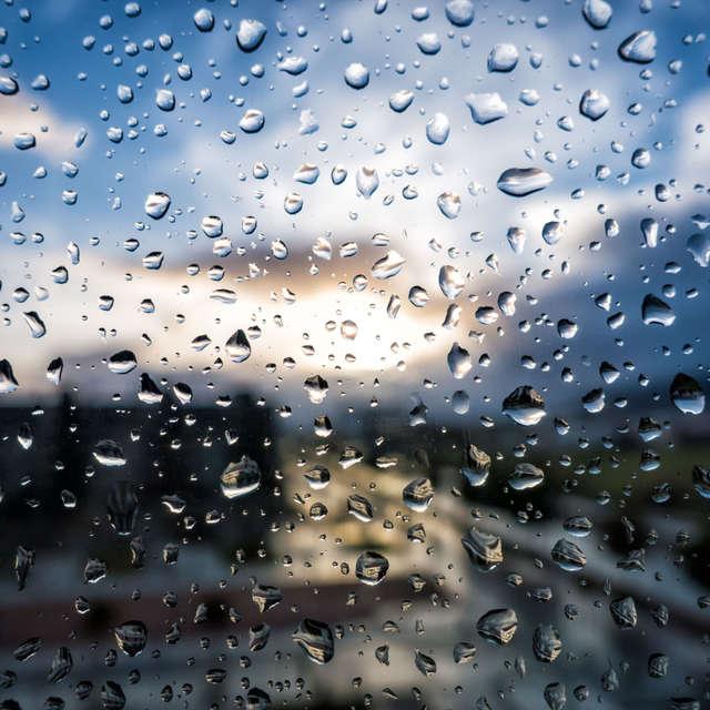 Atardecer lluvioso desde casa