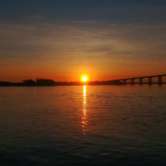 Sunset in Guaíba River