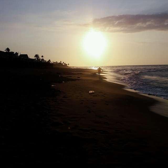 Atardecer.. mar... naturaleza