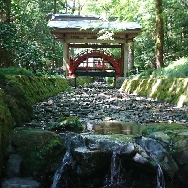 """神社の橋は、""""向こう側=神域""""に渡ることを象徴している。"""