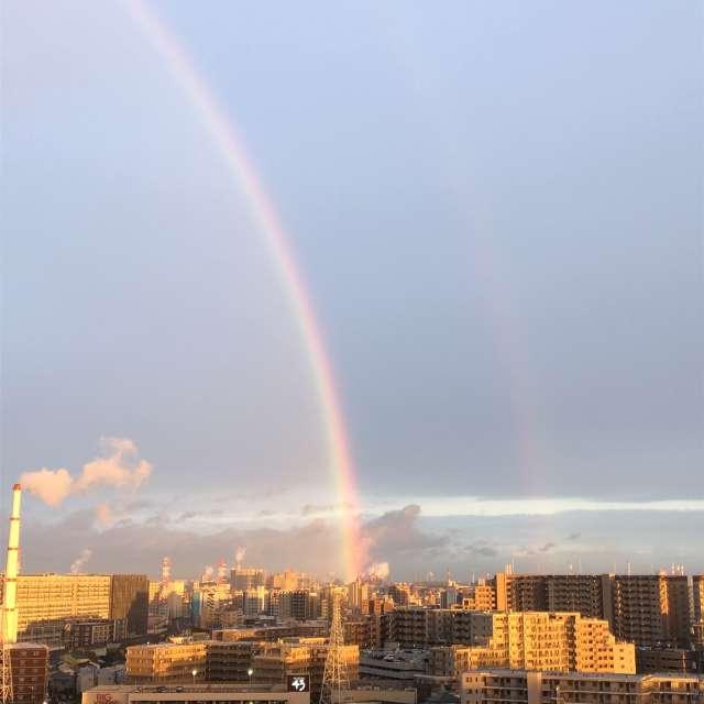 ダブルリングの虹です。