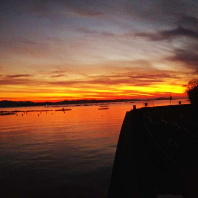 宇和海の夕日