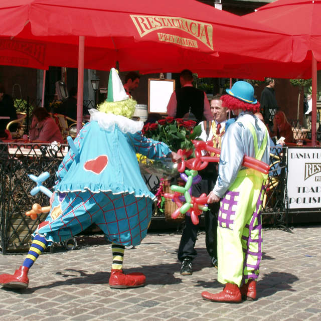 Clowns in the old town