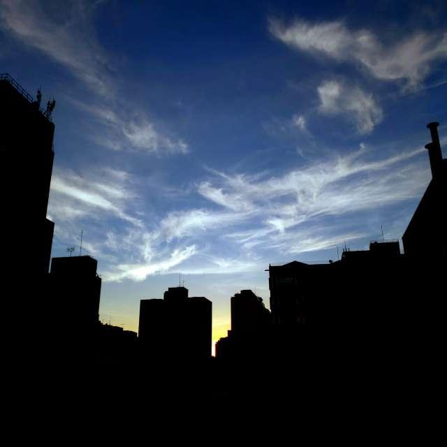 Céu limpo em São Paulo