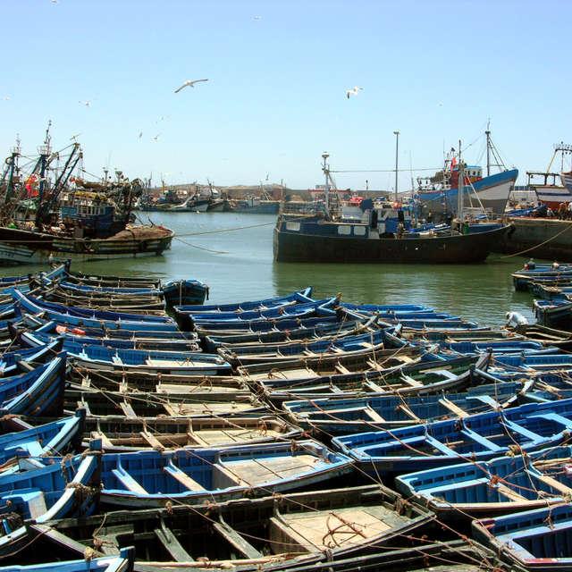Essaouira harbor in Morocco