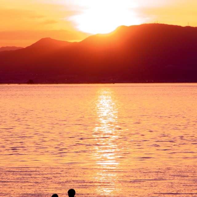 Beach of sunset