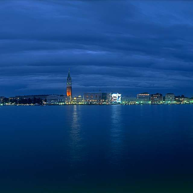 Overview of Venice at night