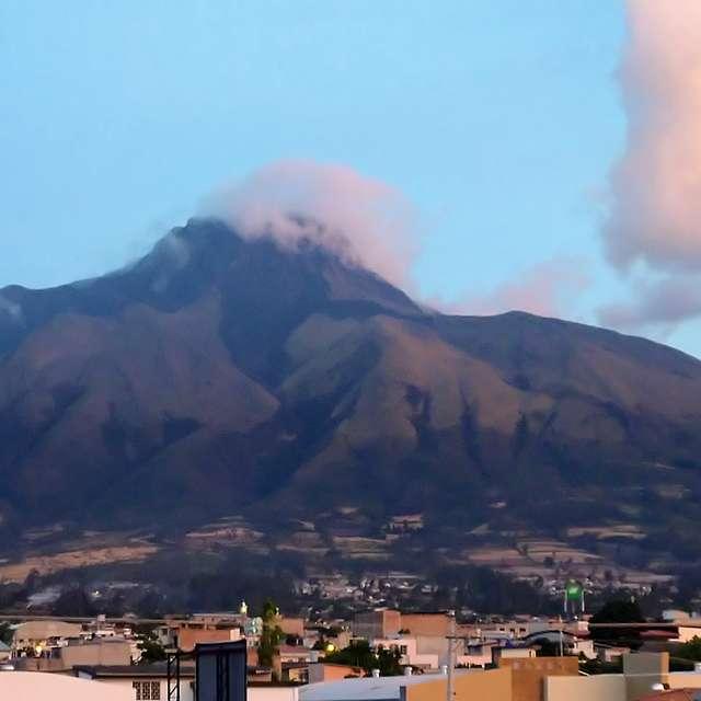 Imbabura Volcano at Sunset