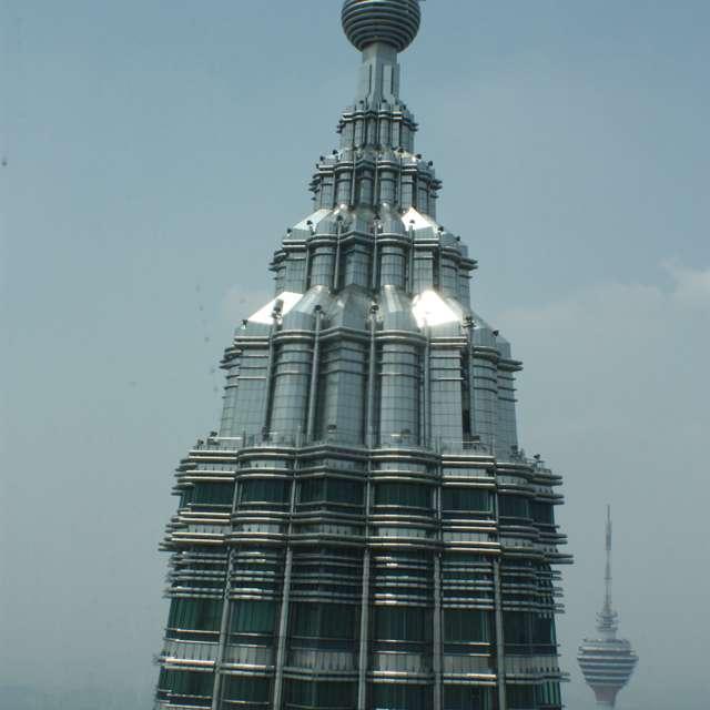 Petronas Tower Sun reflecting