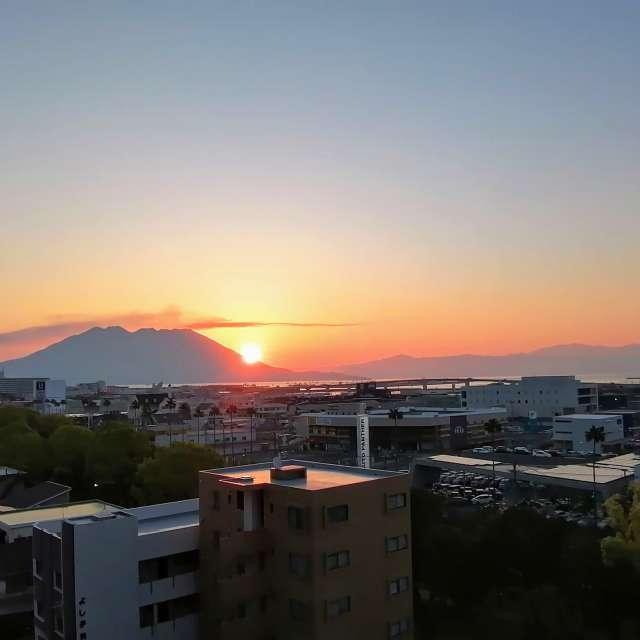 Dawn above Maunt Sakurjima
