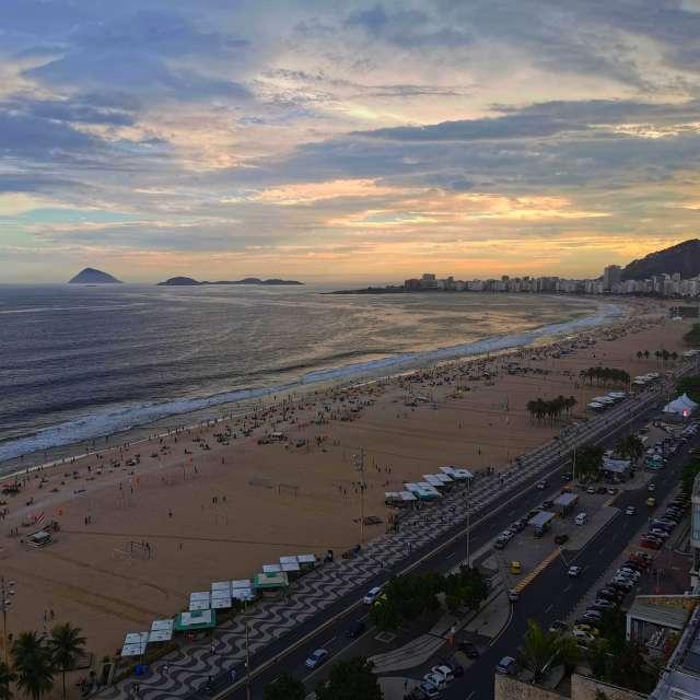 Copacabana Beach in Brasil