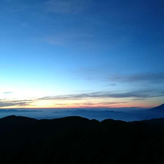 北岳から富士山