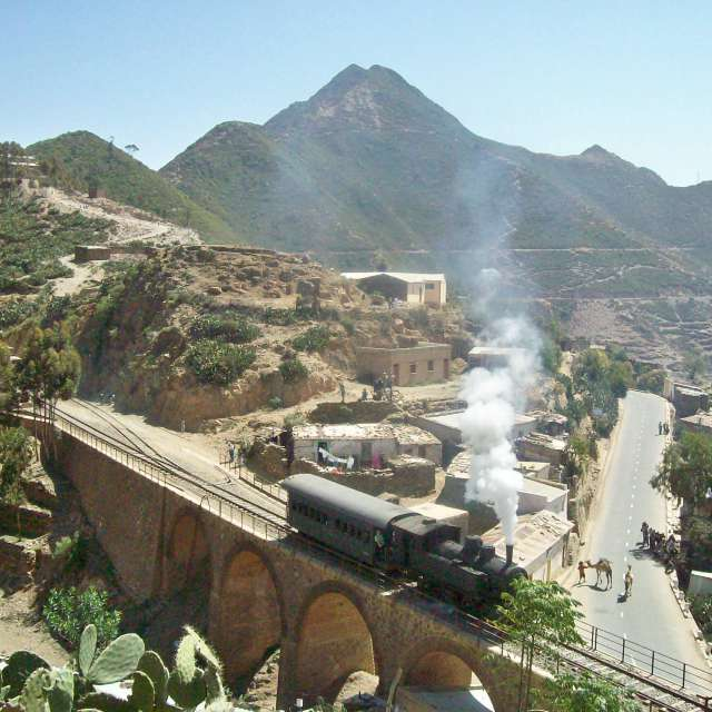 アフリカの蒸気機関車