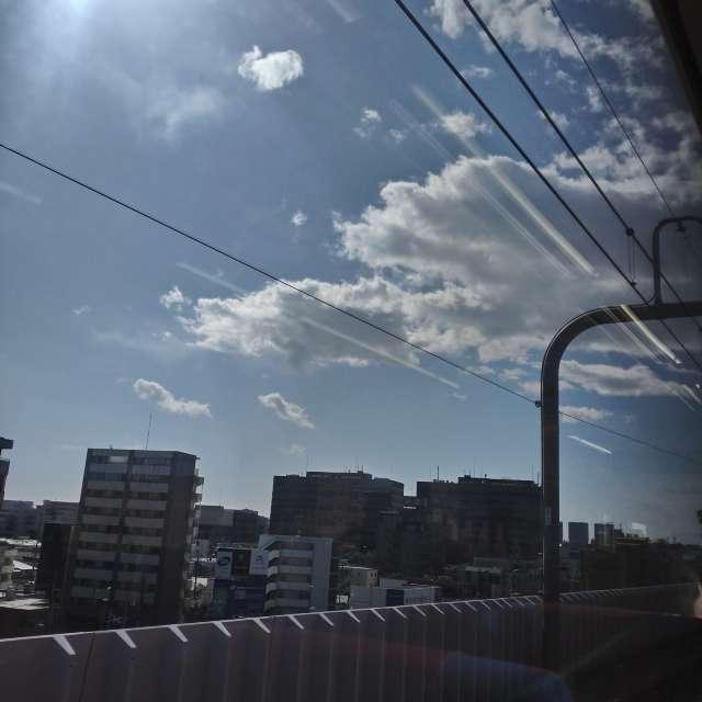横浜の列車から