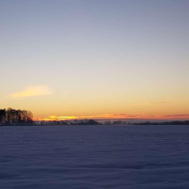 Snow Field Sunrise