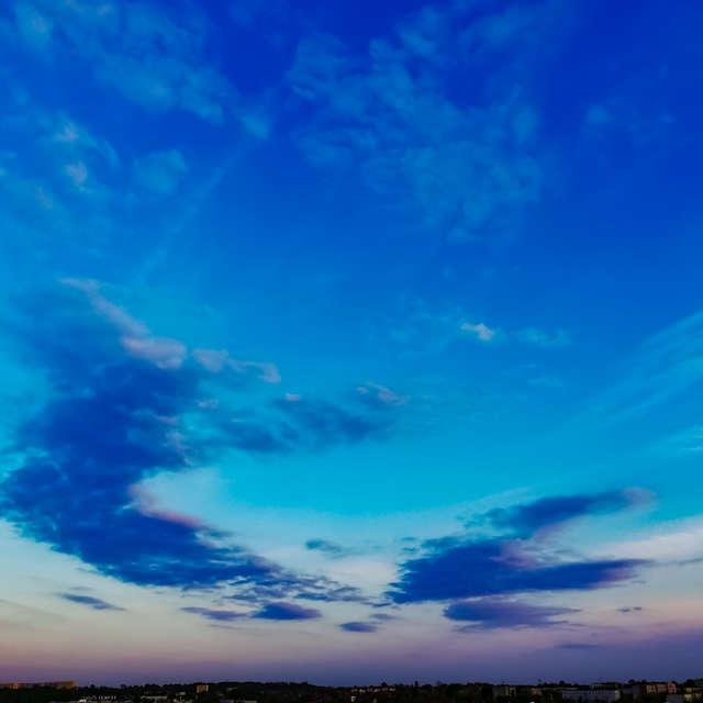 Clouds on sunset sky
