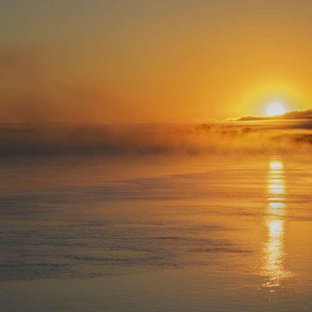 Sun Rise Over Missouri River