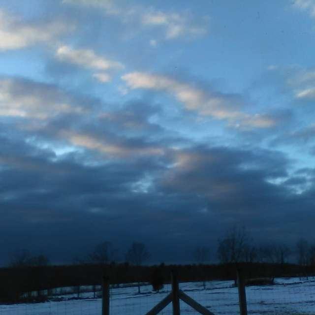 Looking out across farm fields