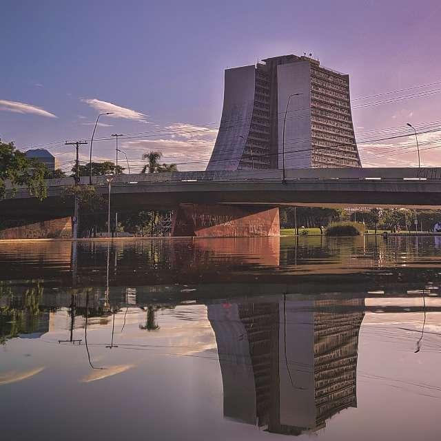 Porto Alegre no fim de tarde