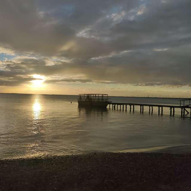 Hermosa puesta sol  Salinas PR