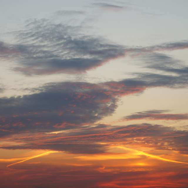 Beautiful clouds at sunset 3