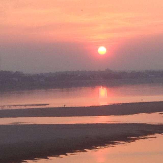 メコン川の夕暮れ