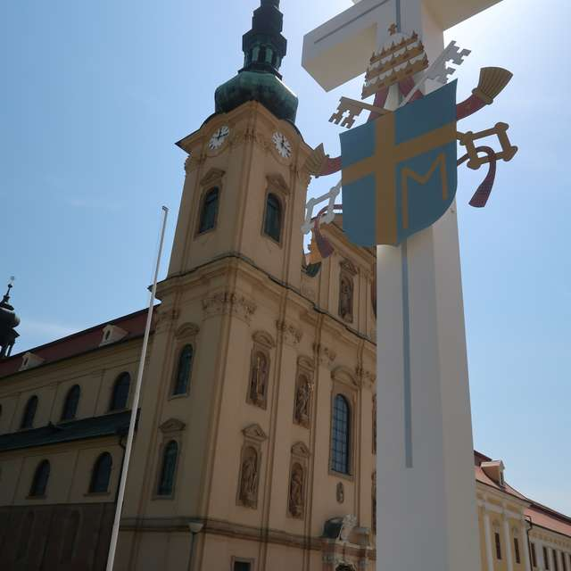 The cross near the basilica