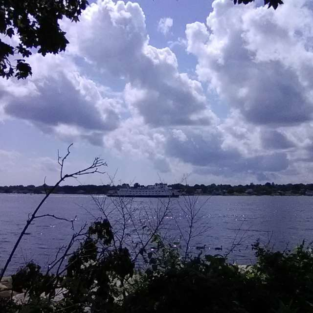 Fair Weather Sky over Ferry