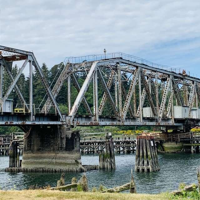 Old bridge on Umpqua River