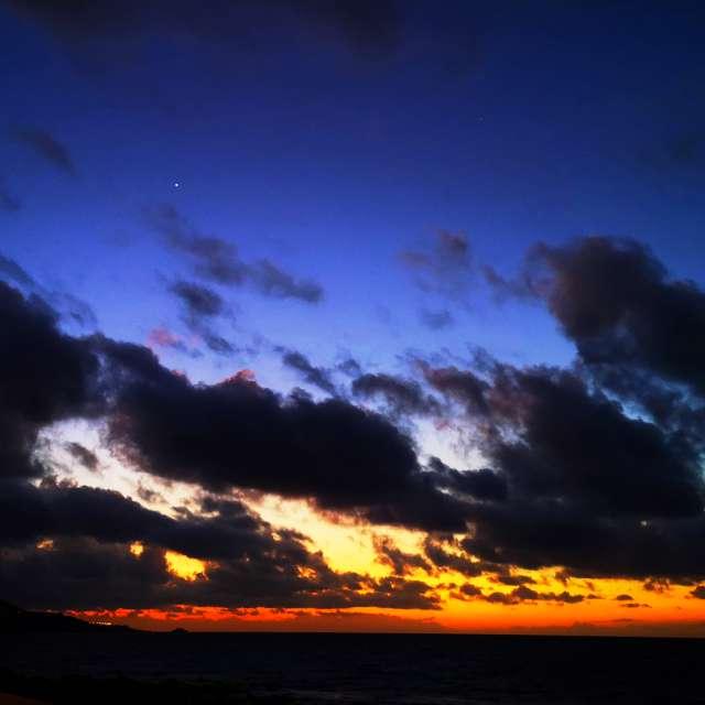 Tenerife on the horizon