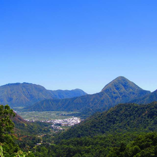 ロンボク島山の風景
