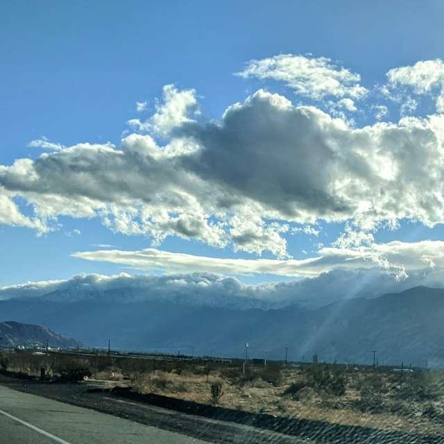 Hot day wind clouds